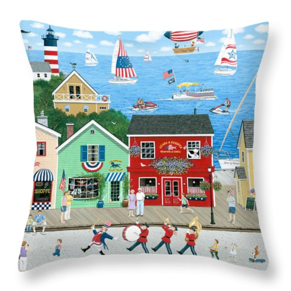 A Star Spangled Day   Throw Pillow by Wilfrido Limvalencia
