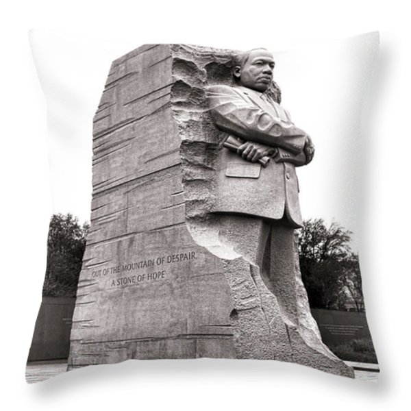 A Stone of Hope Throw Pillow by Olivier Le Queinec