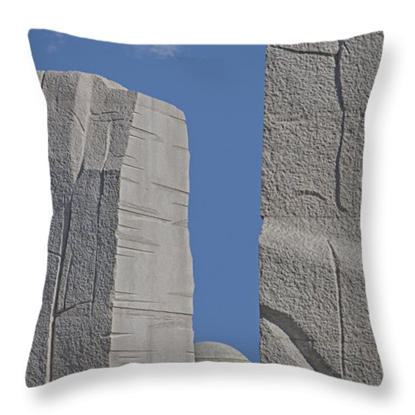 A Stone Of Hope Throw Pillow by Susan Candelario