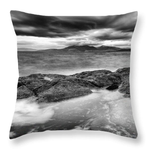 A Storm Brewing Throw Pillow by John Farnan