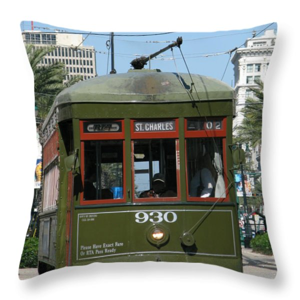 A Streetcar Named Something Else Throw Pillow by Olivier Le Queinec