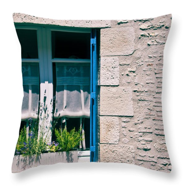 A summer in Europe Throw Pillow by Nomad Art And  Design