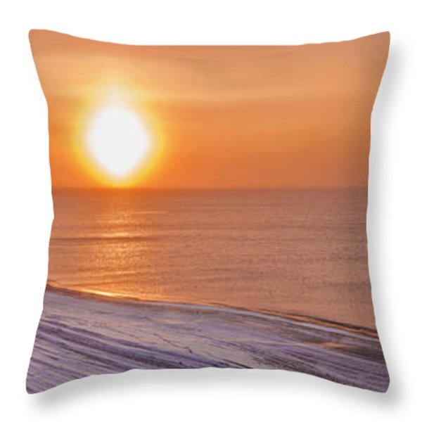 A Sundog Hangs In The Air Over The Throw Pillow by Kevin Smith