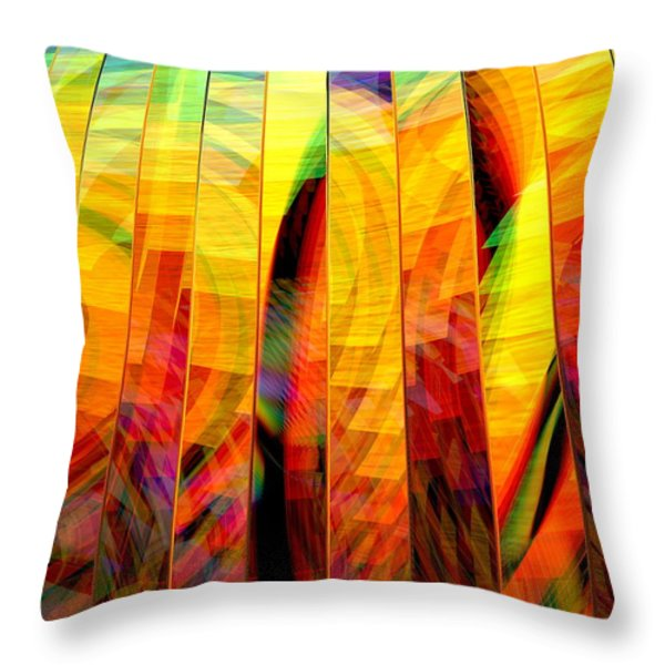 A Sunny Autumn Day  Throw Pillow by Andreas Thust
