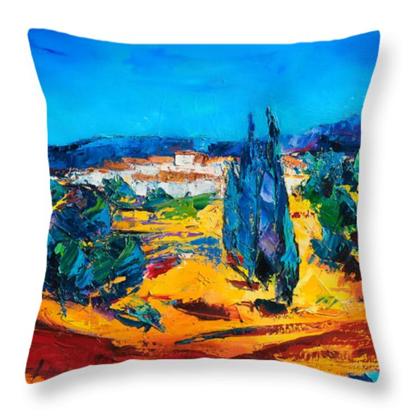 A Sunny Day in Provence Throw Pillow by Elise Palmigiani