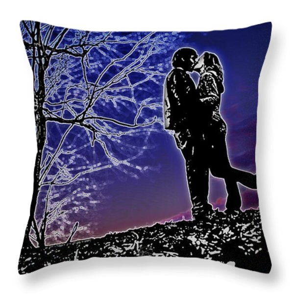 A Sunset Embrace Throw Pillow by Brian Archer