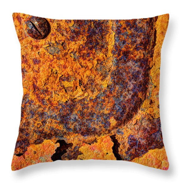 A Tad Rusty Throw Pillow by Heidi Smith