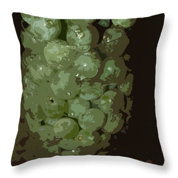 A Tall Glass Of Grapes Throw Pillow by Robert Margetts