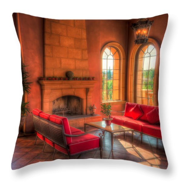 A Taste Of Tuscany Throw Pillow by Heidi Smith