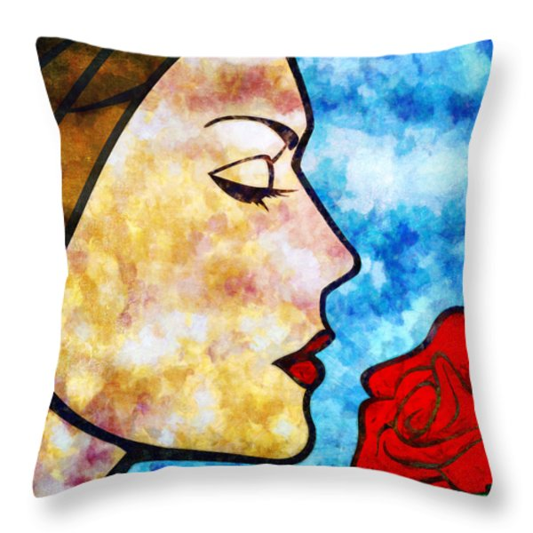 A Thousand Things I Hate About You Throw Pillow by Angelina Vick