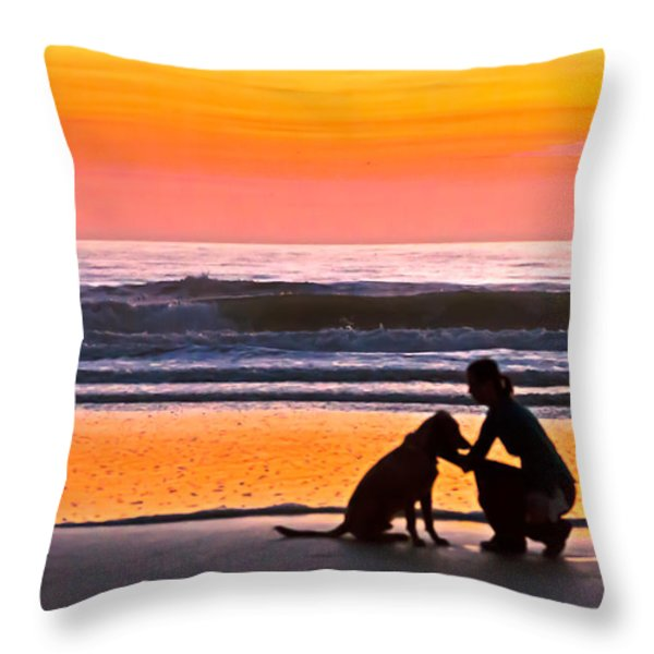 A Time To Bond Throw Pillow by Jim Finch