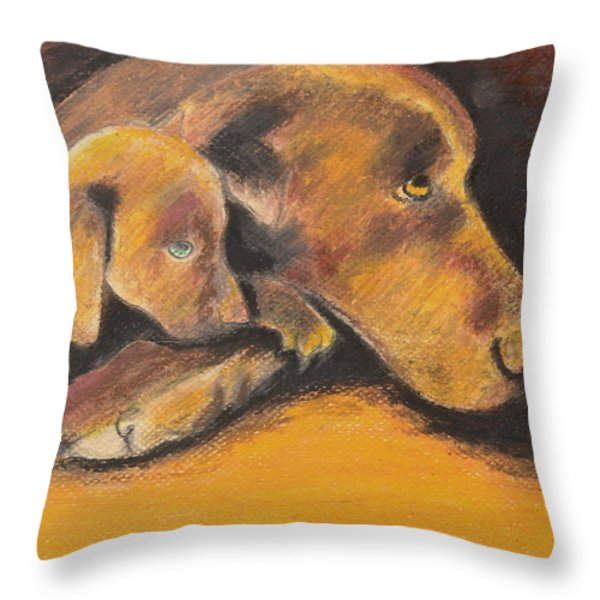 A Time To Rest Throw Pillow by Jeanne Fischer