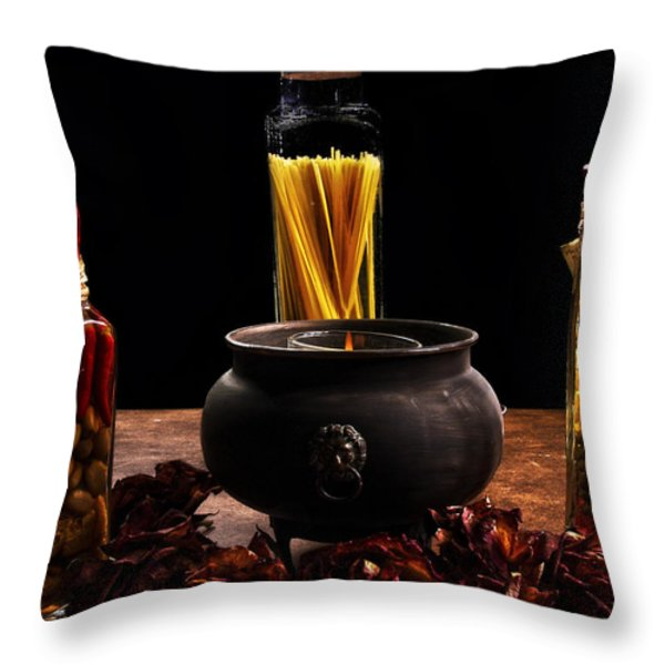 A Touch Of Italian  Throw Pillow by Camille Lopez