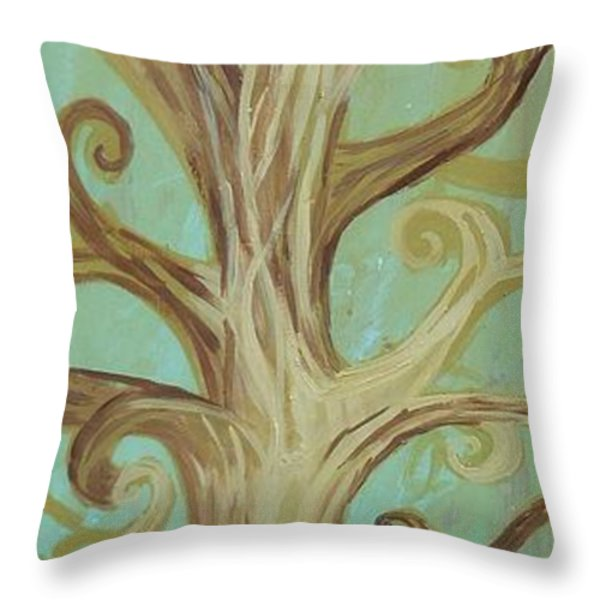 A Tree In Paris Throw Pillow by Genevieve Esson