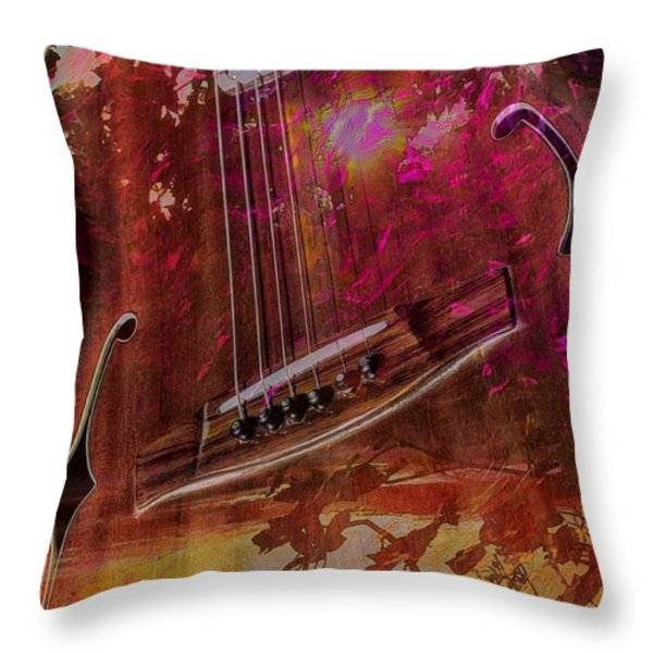 A Tune In The Woods By Steven Langston Throw Pillow by Steven Lebron Langston