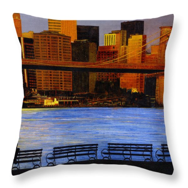 A View From Brookklyn Throw Pillow by Stuart B Yaeger