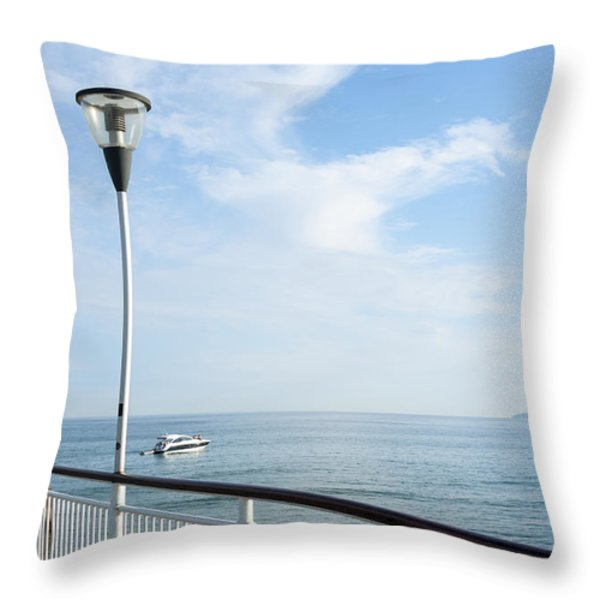 a View from Pier Throw Pillow by Svetlana Sewell