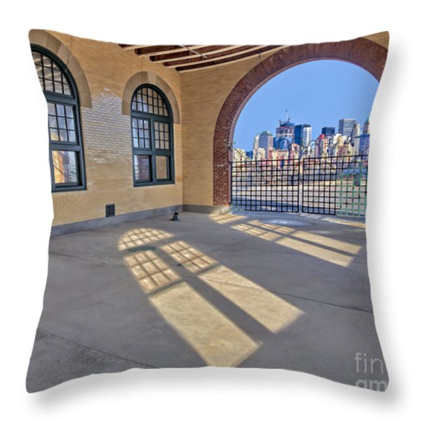 A View To NYC Throw Pillow by Susan Candelario
