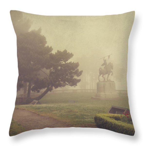 A Walk in the Fog Throw Pillow by Laurie Search