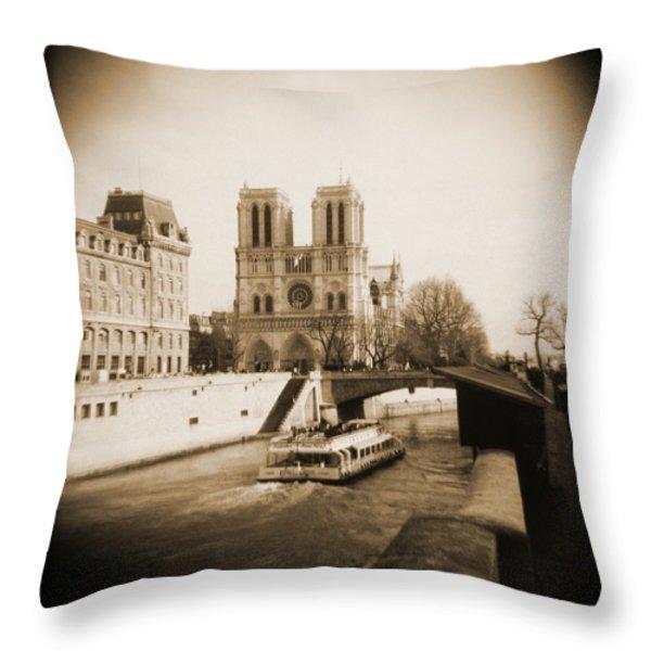 A Walk Through Paris 22 Throw Pillow by Mike McGlothlen