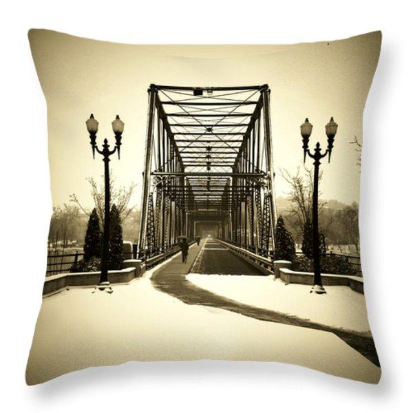 A Walk Through Time Throw Pillow by Lori Deiter