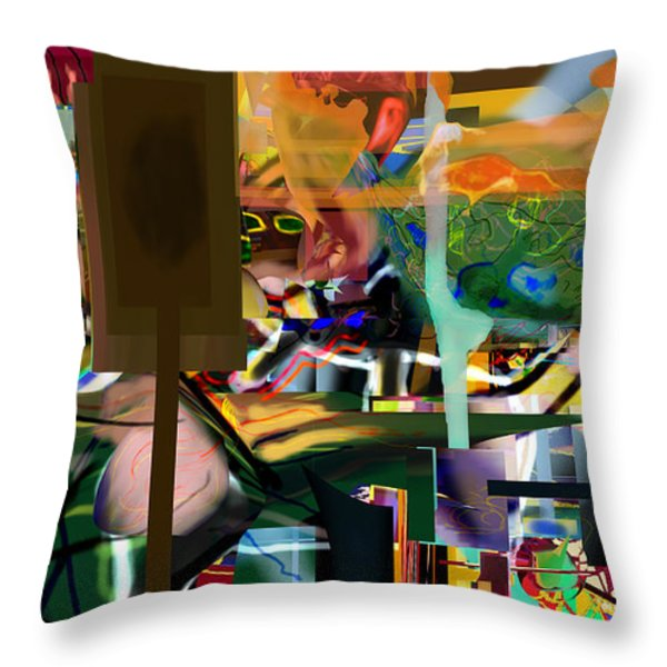 A Way To Bring The World To Tsheuvah 10 Throw Pillow by David Baruch Wolk