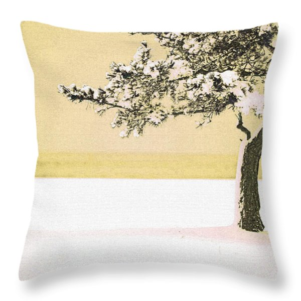 A Winter Moment Throw Pillow by Karol Livote