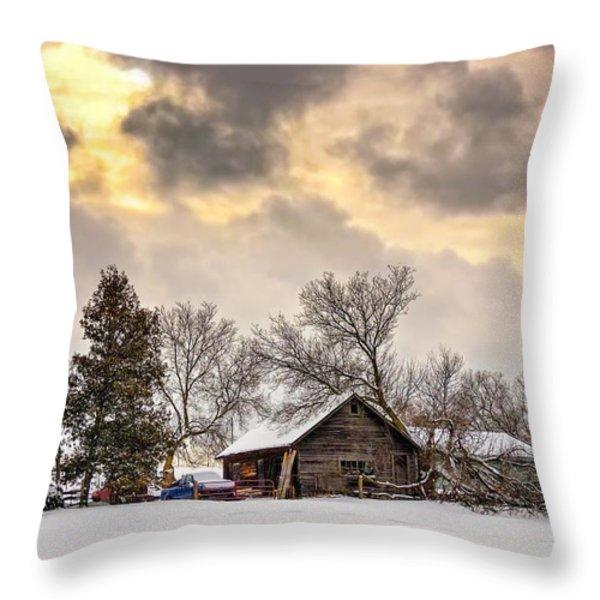 A Winter Sky Throw Pillow by Steve Harrington