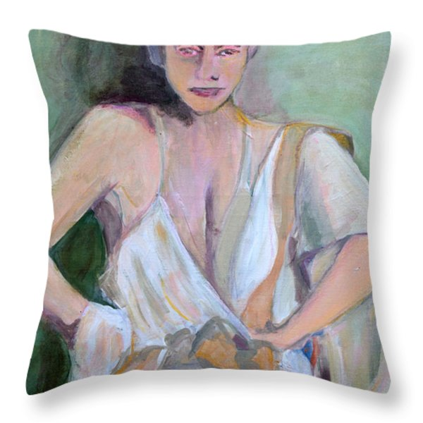 A Woman In Love Throw Pillow by Diane montana Jansson