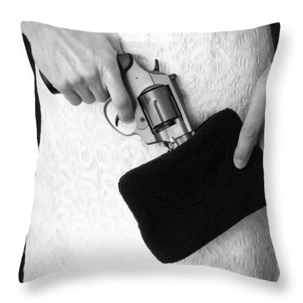 A Woman Scorned Throw Pillow by Edward Fielding