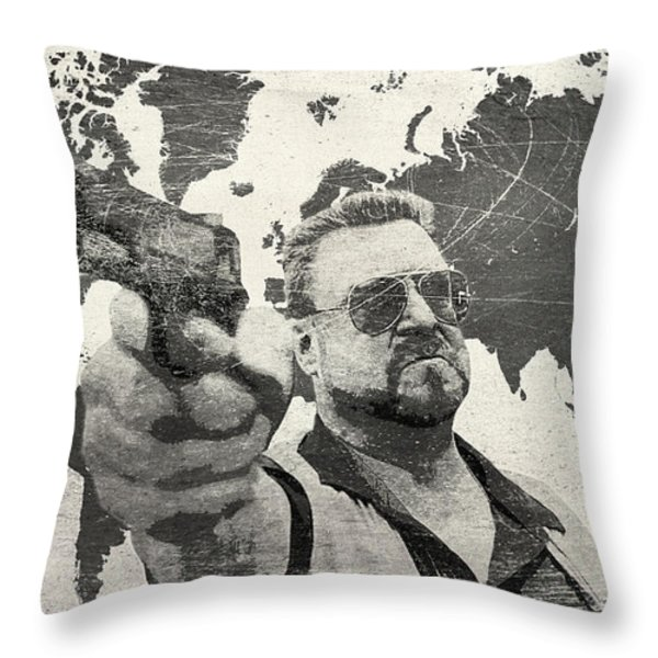 A World Of Pain b Throw Pillow by Filippo B
