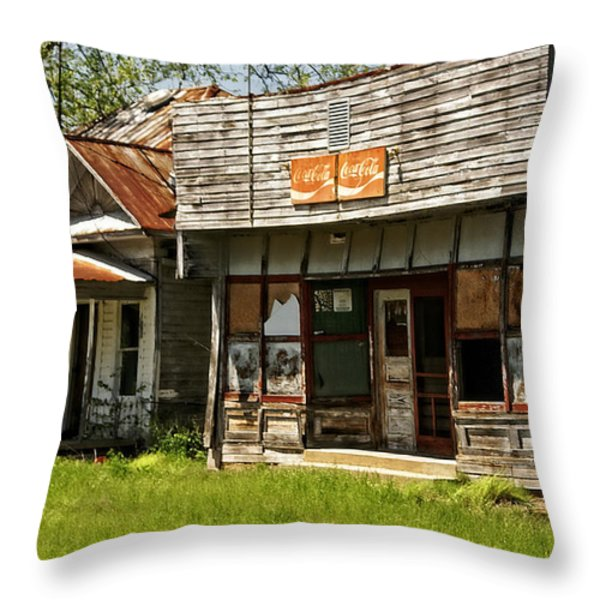 Abandonded Throw Pillow by Marty Koch