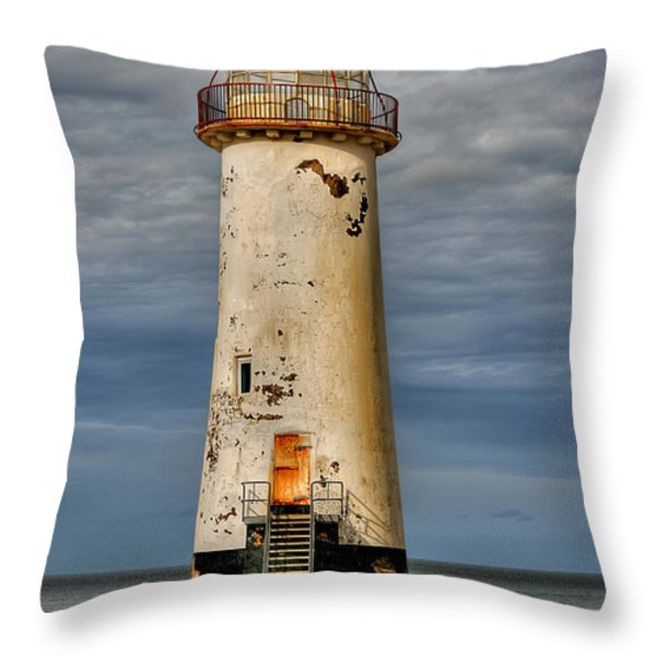 Abandoned Throw Pillow by Adrian Evans
