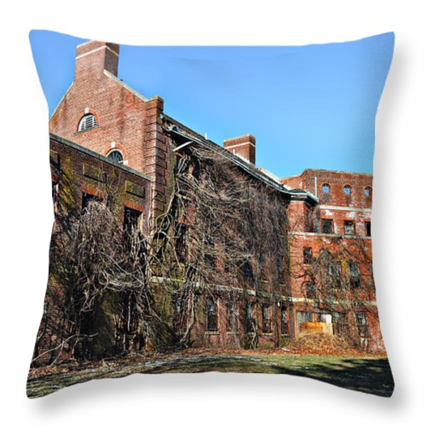 Abandoned Asylum Throw Pillow by Bill Cannon
