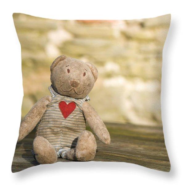 Abandoned Bear Throw Pillow by Anne Gilbert