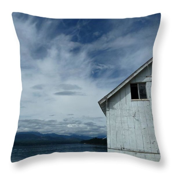 Abandoned by the Water Throw Pillow by Patricia Strand