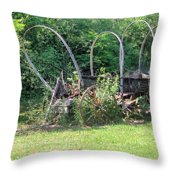 Abandoned Throw Pillow by Gordon Elwell