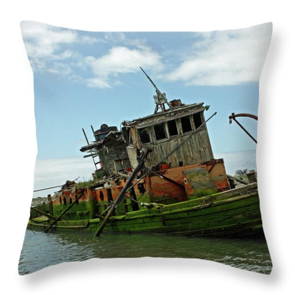 Abandoned Throw Pillow by Kami McKeon