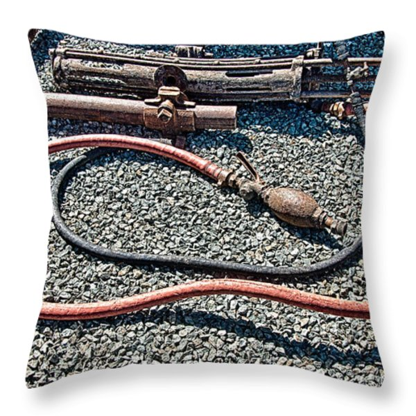 Abandoned Mine Jerome Arizona Throw Pillow by Bob and Nadine Johnston