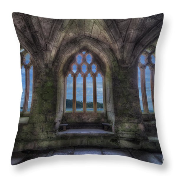 Abbey View Throw Pillow by Adrian Evans