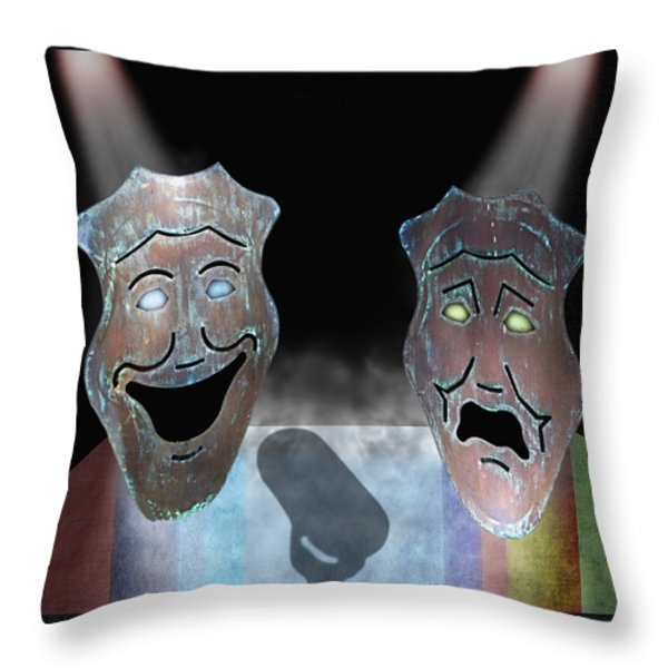 Abbott And Costello Throw Pillow by Steven  Michael