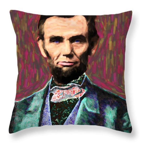 Abe 20130115 Throw Pillow by Wingsdomain Art and Photography