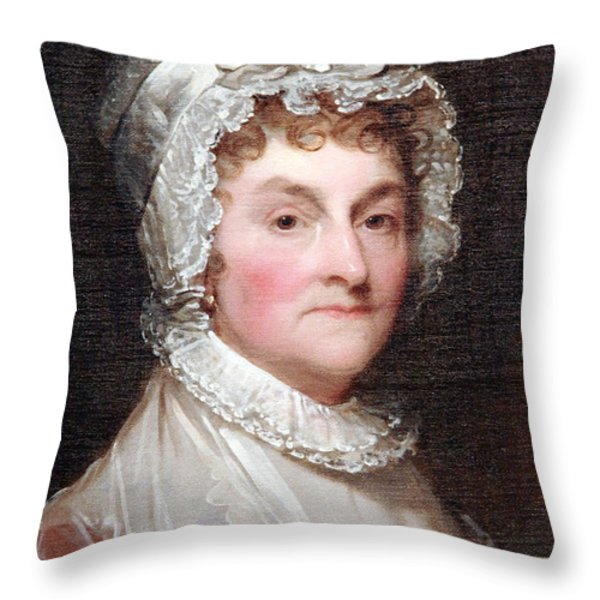 Abigail Smith Adams Up Close -- 1 Throw Pillow by Cora Wandel