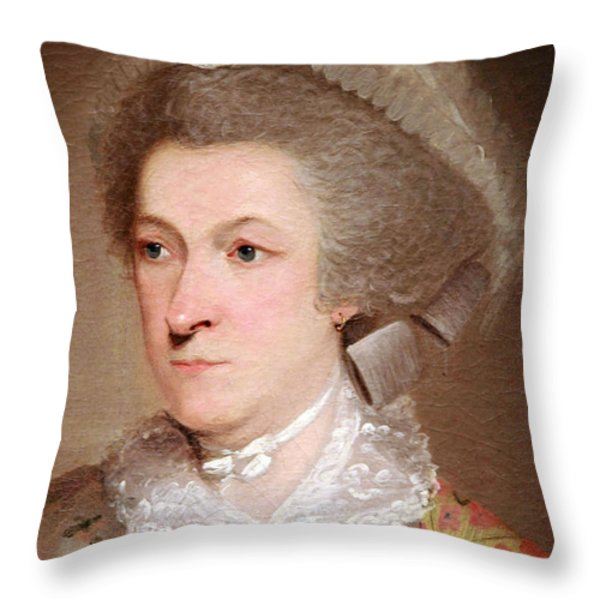 Abigail Smith Adams Up Close -- 2 Throw Pillow by Cora Wandel