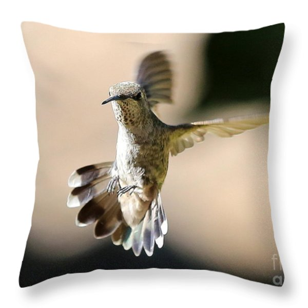 About Face Throw Pillow by Carol Groenen