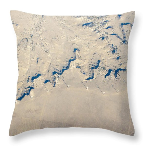 Above Kansas Windmills Throw Pillow by Darleen Stry