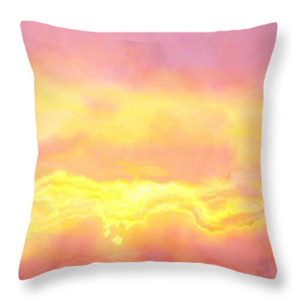 Above The Clouds - Abstract Art Throw Pillow by Jaison Cianelli