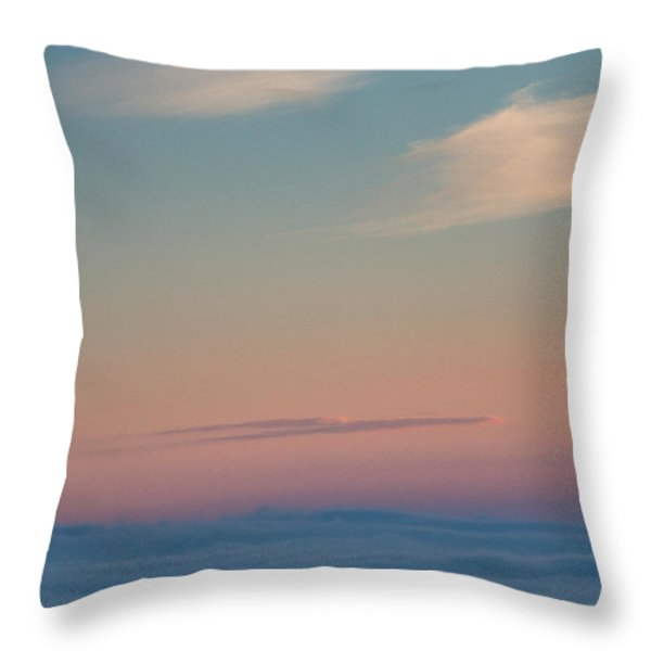 Above the clouds Throw Pillow by Davorin Mance