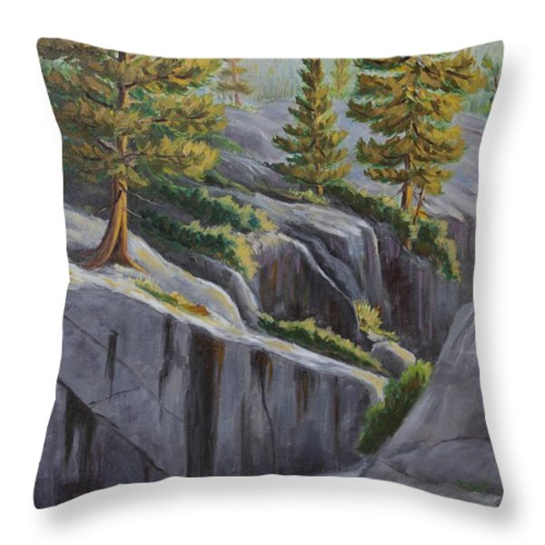 Above The Gorge Throw Pillow by Cheryl Bloomfield