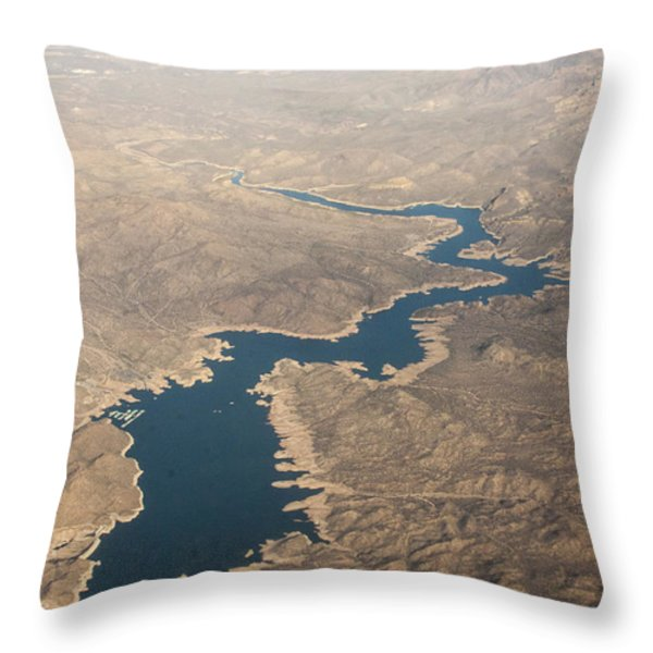 Above The Rocky River Throw Pillow by Darleen Stry